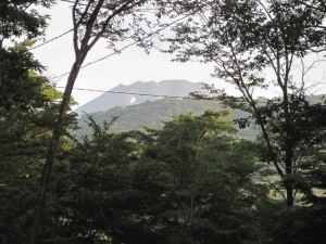 6十里木キャンプ場から見た朝の富士山