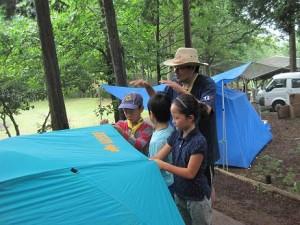 3テント設営
